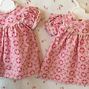 "Effanbee TWIN Series -- 15"" Dy-Dee Pink Flowered Dress #2"