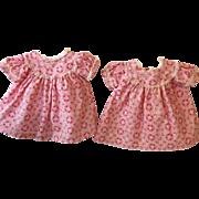 """Effanbee TWIN Series -- 15"""" Dy-Dee Pink Flowered Dress #2"""