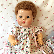 "Effanbee TWIN Series -- 15"" Dy-Dee PINK trim ROSES Dress #2"