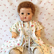 """Effanbee TWIN Series -- 15"""" Dy-Dee Drop Seat PJ's with Matching Robe #2 BLUE"""