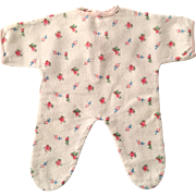 """RARE Factory 11"""" Tiny Tears Flannel Pajamas - Red Roses #2"""