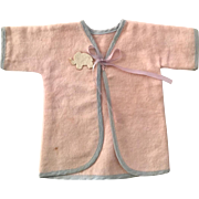"13.5"" Tiny Tears factory issue Layette KIMONO Robe - Pink Elephant"