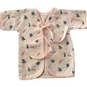 "13.5"" Tiny Tears factory issue Layette KIMONO Robe - Hearts and Flowers"