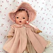 "MINT Effanbee Factory Original 13"" Dy-Dee KIN Coat and Bonnet Set"
