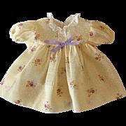 """Vintage Effanbee 13"""" Dy-Dee KIN Orignal Layette Dress -- YELLOW"""