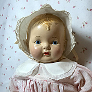 """RARE --1930s Effanbee EARLY Painted Eye SUGAR BABY 20"""" Composition Doll -- A/O"""