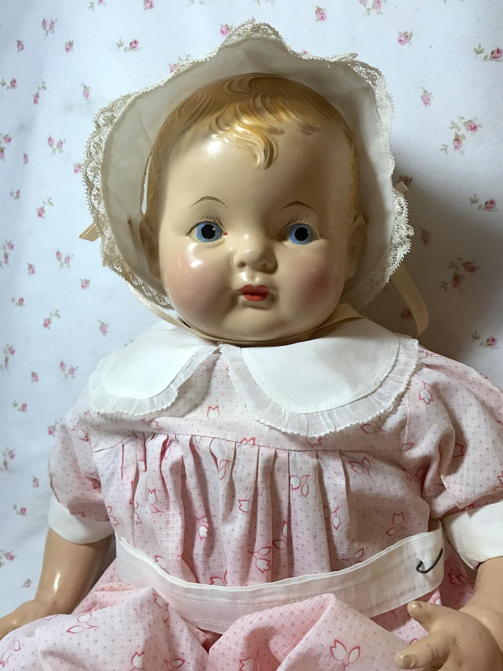 "RARE --1930s Effanbee EARLY Painted Eye SUGAR BABY 20"" Composition Doll -- A/O"