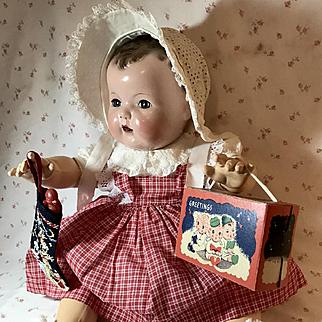 Vintage Effanbee Dy-Dee Lou CHRISTMAS Pinafore Set