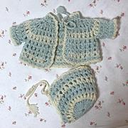 """Effanbee Factory Original 11"""" Dy-Dee Ette Layette Sweater SET #2"""
