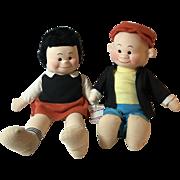 "1940's Georgene Averill 14"" NANCY & SLUGGO Dolls * MINT"