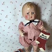 Vintage Effanbee Composition GRUMPY Doll -- EXTRAORDINARY !