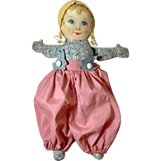 "RARE * 1938 Georgene AVERILL Maude Tousey Fangel Cloth Doll -- "" SWEETS """