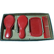 RED Celluloid Dresser / Layette Set for Effanbee Dy-Dee