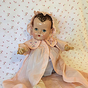 RARE and Mint Molly'es Pink Silk Robe and Bonnet for Dy-Dee Lou