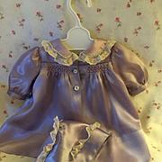 """Vintage """"Rare"""" GORGEOUS 15"""" Dy-Dee Silk Coat and Bonnet & Dress"""