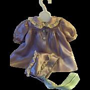 """Vintage """"Rare"""" GORGEOUS 15"""" Dy-Dee Silk Coat and Bonnet"""