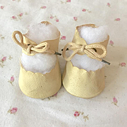 """Original 15"""" Effanbee Dy-Dee Oilcloth Layette Shoes"""