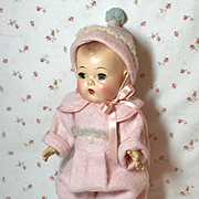 "SUPER RARE 11"" Dy-Dee Ette/ 11"" to 12"" Tiny Tears Eiderdown Snowsuit -- EXCELLENT"