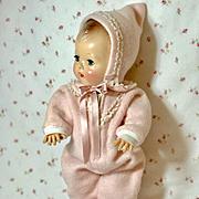 """Vintage EIDERDOWN Effanbee 13"""" DY-DEE Kin Snow Suit / SNOWSUIT Dy-Dee / Tiny Tears"""