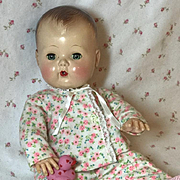 """MINT Pink Flowers Flannel Print PJ's for 13"""" Tiny Tears and Dy-Dee Kin"""