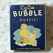 RARE 1930's Effanbee Dy-Dee Doll BUBBLE Pipe Kit Outfit