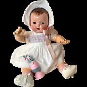"Gorgeous Vintage 1930's Dotted Swiss Effanbee 20"" Dy-Dee LOU Dress -- Bonnet Shoes Socks Slip Toy"