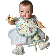 Darling 1930's Effanbee Dy-Dee Lou Party Clowns Bib and Toy