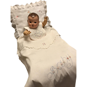 "Vintage Effanbee Dy-Dee LOU Doll ""BABY"" Blanket and Bib Set for your 20"" Doll"