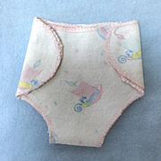 "Vintage 1950's Original Factory 11"" Tiny Tears Flannel Diaper -- WEE WILLIE WINKIE"