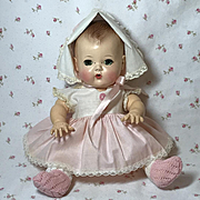 "MINT 11.5"" TINY TEARS doll -- mid-1950's w/ Original Layette"