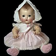 """MINT 11.5"""" TINY TEARS doll -- mid-1950's w/ Original Layette"""