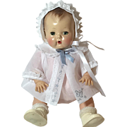 "13.5"" Tiny Tears Sheer White Organdy Coat and Bonnet"