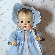 "Blue Cotton Coat SET for 13.5"" Tiny Tears"