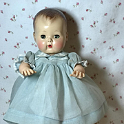 "1940's Blue Organdy with Peter Pan Collar for 13.5"" Tiny Tears"