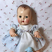 """Blue Organdy and Dimity Flowers Dress for 13.5"""" Tiny Tears"""
