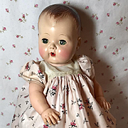 "13.5"" Tiny Tears New-Old-Stock PINK ROSES Daytime / School Time Dress"