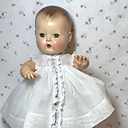 "13.5"" Tiny Tears WHITE Embroidered Organdy Dress / Slip / Socks"