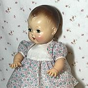 "13.5"" Tiny Tears 1950's NOS Cotton Dimity School Dress"
