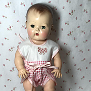 "1950's Vintage 13.5"" Tiny Tears Prototype Cotton Sunsuit"
