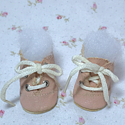 "RARE 11.5"" Tiny Tears 1950's PINK Oilcloth Shoes"