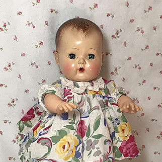 "11.5"" Tiny Tears Flowered Cotton Daytime Dress"