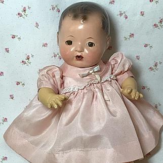 """Vintage PINK Silk Effanbee Dy-Dee Ette / 11"""" Tiny Tears Dress"""