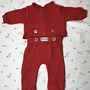 """1950's RED MINT Nitey Nite Pajamas for 13.5 to 15""""  DY-DEE / Tiny Tears and Friends"""
