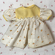 "13.5"" Tiny Tears 1950's Yellow Flowers BABY Dress"