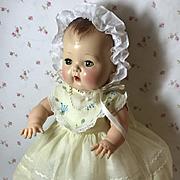 "13.5"" Tiny Tears / Betsy Betsy Yellow Organdy Dress and Bonnet Set"
