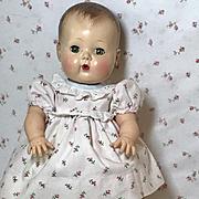 Vintage 13.5 Tiny Tears Pink Cotton RoseBud Dress