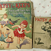 Rare Complete -- 1932 PATSY FOR KEEPS Put-Together Doll Book Esther Merriam Ames plus Bonus Book