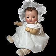 "Beautiful Original 15"" Dy-Dee Dress and Bonnet Set -- Pure White Organza"