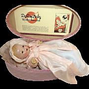 "RAREST Effanbee 15"" Blond Dy-Dee 1934 Oval Case Presentation Set"