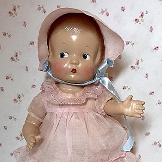 Original Factory Effanbee 1930's Patsy Doll PINK Organdy Outfit
